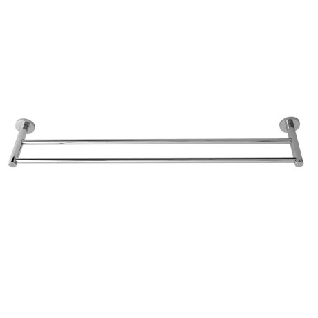 0903C-8 BK Image HeroImage Virtu Circit Double Towel Rail - 800mm