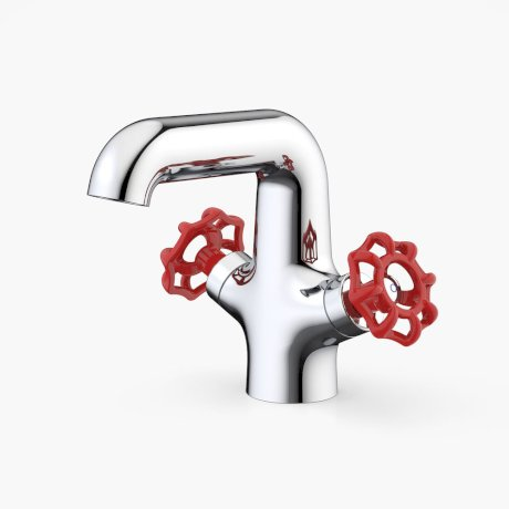 Dorf Mixer Taps Industrie Industrie Basin Mixer Red