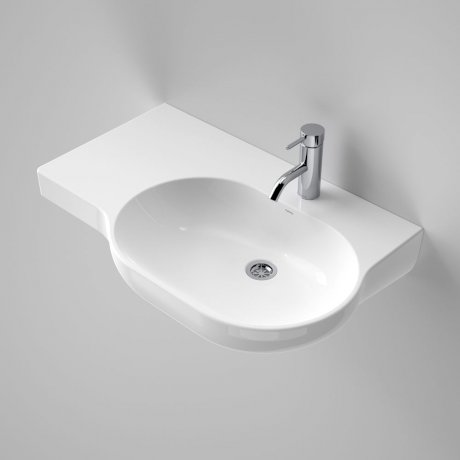 Caroma_Piperita_Opal_720_Wall_Basin_Left_Hand_Shelf_632200W_SI_48560