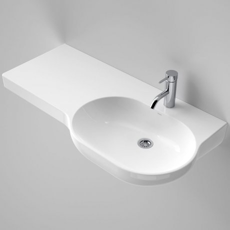 Caroma_Piperita_Opal_920_Wall_Basin_Right_Hand_Shelf_632300W_SI_48586