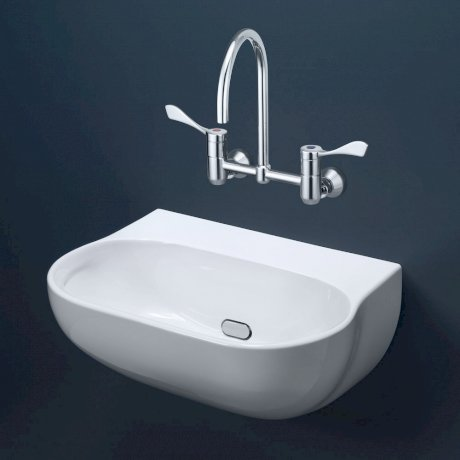 632700W BK Image HeroImage Caroma Clinic 600 Wall Basin - 0TH - Independent Living