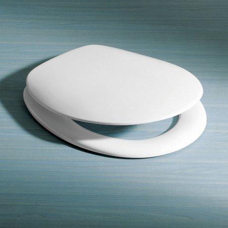 816000W BK Image HeroImage Caroma Pressalit 2000 Seat - Standard Hinges - White