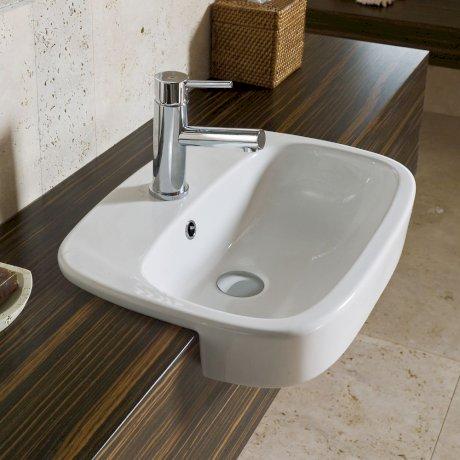 p863715W BK Image HeroImage Fowler Regent Semi Recessed Vanity Basin - 1TH