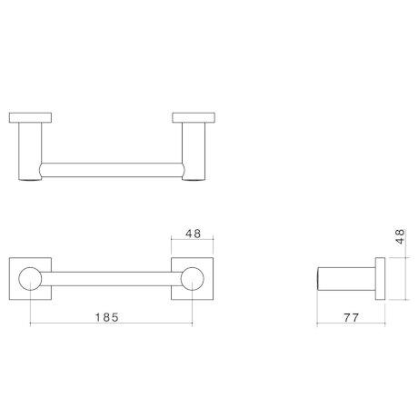 2293.04 BK Image TechnicalImage Dorf Enix Hand Towel Rail LD
