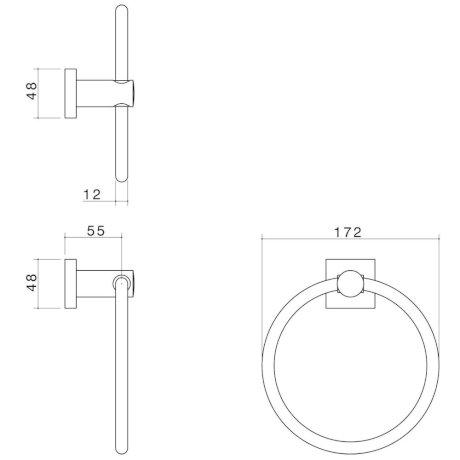 2295.04 BK Image TechnicalImage Dorf Enix Towel Ring LD