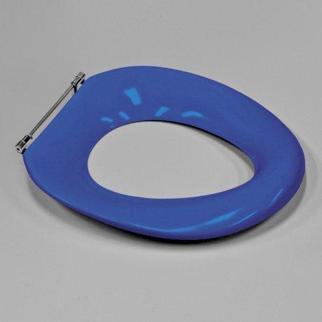 p813010SB BK Image HeroImage Caroma Colani Single Flap Seat - Sorrento Blue