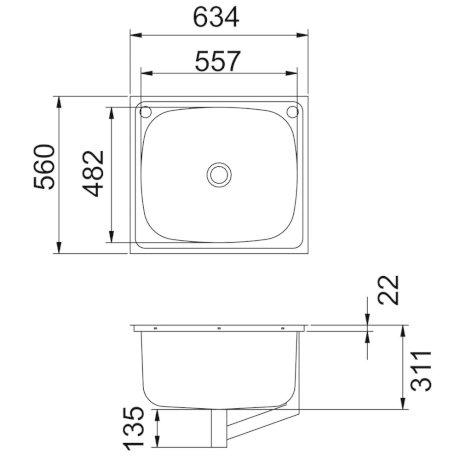 9510 BK Image TechnicalImage Clark Flushline Tubs 9510 PB LD