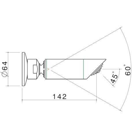 97913C3A BK Image TechnicalImage Caroma Retro Fixed Wall Shower LD