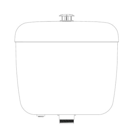 234036W BK Image TechnicalImage Caroma Aire UltraLowPressure Cistern LD