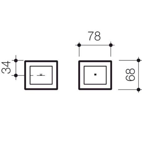 237023C BK Image TechnicalImage Invisi II Rectangle Dual Flush Custom Remote Button