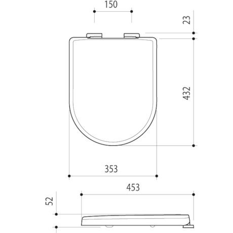300023W BK Image TechnicalImage Fowler Seido Toilet Seat PB LD