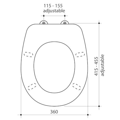 350020W BK Image TechnicalImage Caroma Stirling SoftClose ToiletSeat LD