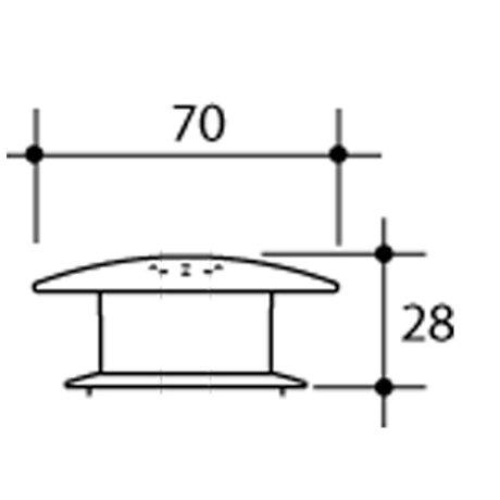 416020SB BK Image TechnicalImage Caroma RoundCareButtonBlue COMPCARE LD