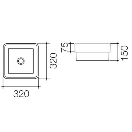 683300W BK Image TechnicalImage Caroma Cube320 INSETVB BLD