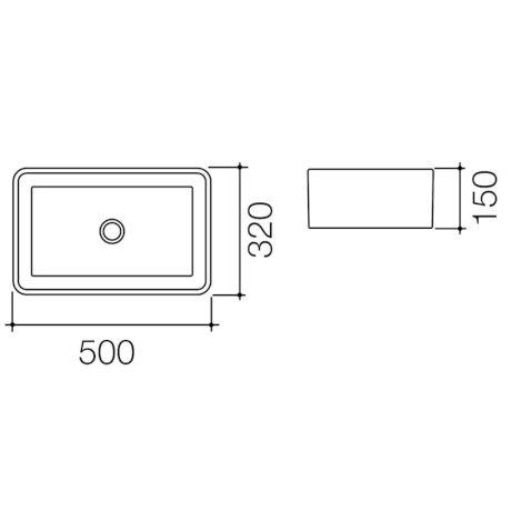 683400W BK Image TechnicalImage Caroma Cube 500 ACVB BLD