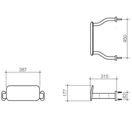 687400SW BK Image TechnicalImage Caroma Backrest AS1428.1 LD.jpg