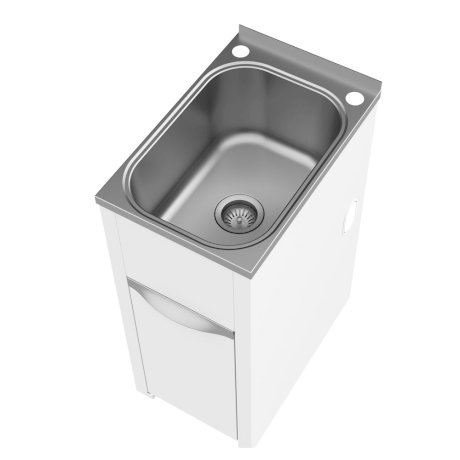 p7111 BK Image HeroImage Clark Eureka 35 Litre Compact Tub and Cabinet with Single By-Pass - Assembled