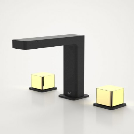 6216-925A EPIC BLOC 3 PC BASIN SET BLACK-GOLD HANDLES.jpg