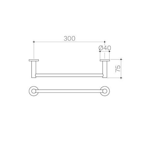 Clark-Round-Single-Towel-Rail-300mm.jpg