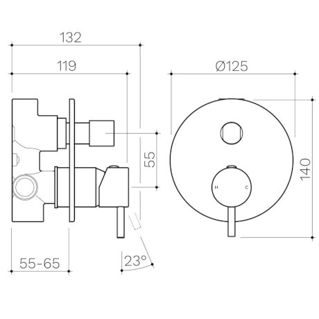 CL10028.C-Clark-Round-Pin-Wall-Mixer-with-Diverter.jpg