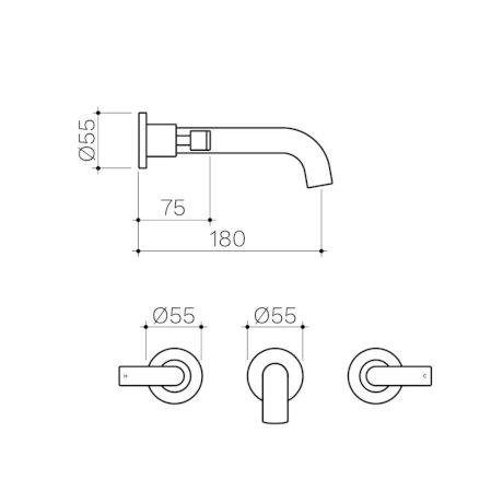 CL10067.C5A-Clark-Lever-Wall-Basin-Bath-Set-180mm.jpg