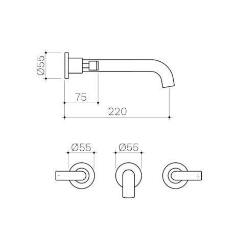 CL10068.C5A-Clark-Lever-Wall-Basin-Bath-Set-220mm.jpg