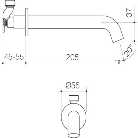 CAEL0031GM_-_Elvire_Bath_Outlet_205mm_-_Gunmetal_1[1].jpg