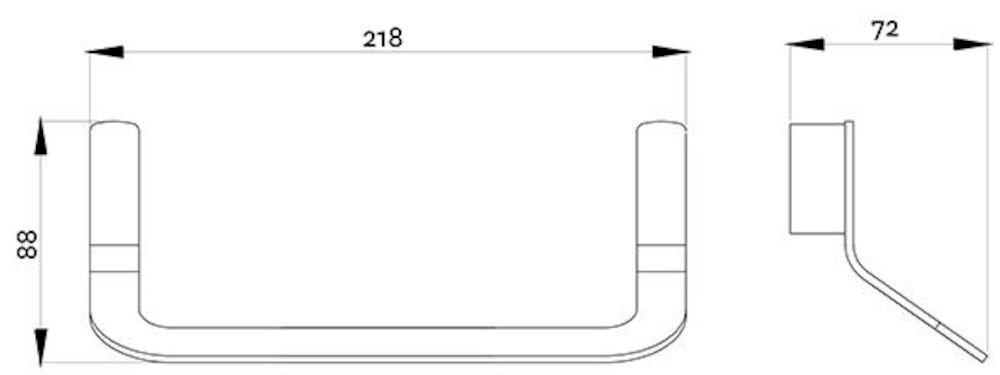 p38-3306 BK Image TechnicalImage Waipori Towel Ring