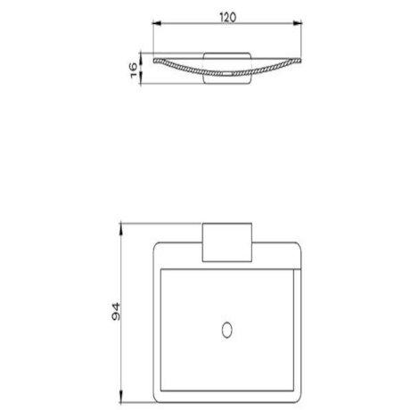 p38-3504 BK Image TechnicalImage Waipori Soap Dish Holder