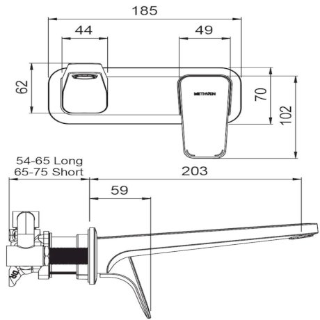 01-8123 Waipori Wall Mounted Basin Mixer with Plate 2.jpg