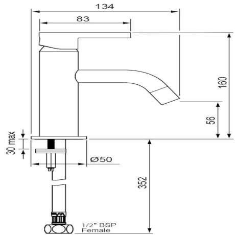 03-9104M Arrow Basin Mixer tech.jpg