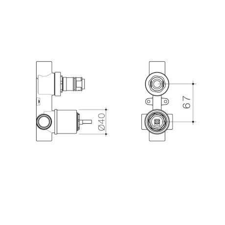 99659 - Caroma Universal - Wall Basin Bath Mixer With Diverter - Inwall Body.jpg