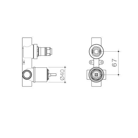 99659 - Caroma Universal - Wall Basin Bath Mixer With Diverter - Inwall Body.jpg