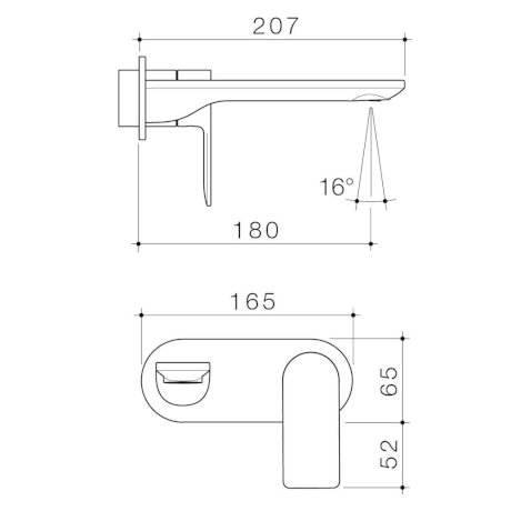 99637C6A 99637B6A 99637BB6A 99637GM6A 99637BN6A - Urbane II - 180mm Wall basin bath Trim Kit -  Rounded Cover Plate.jpg