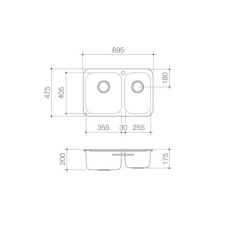 PPL15B-Clark-Polar-1.5-Bowl-Overmount-Sink_PL_1.jpg