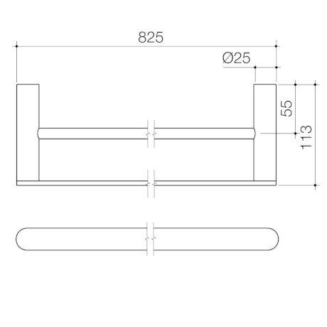99616C 99616B 99616BB 99616BN 99616GM Urbane II Double Towel Rail.jpg