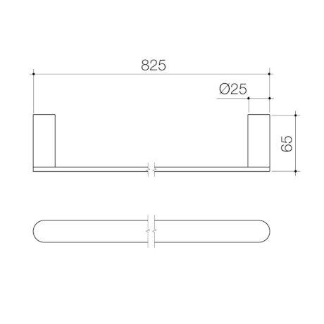 99617C 99617B 99617BB 99617BN 99617GM Urbane II Single Towel Rail.jpg