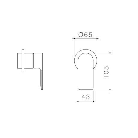 99653C6A 99653B6A 99653BB6A 99653GM6A 99653BN6A - Urbane II - Bath shower Trim Kit - Round Cover Plate.jpg