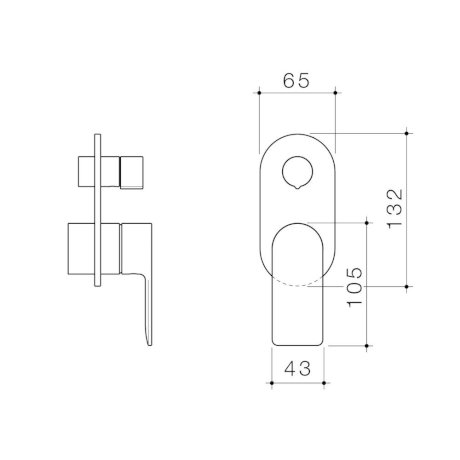 99661C6A 99661B6A 99661BB6A 99661GM6A 99661BN6A - Urbane II - Bath shower mixer with diverter Trim Kit - Rounded Cover Plate.jpg
