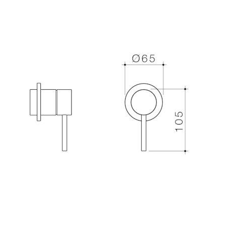 96363C 96363B 96363BB 96363BN 96363GM - Liano II Bath Shower Trim Kit - Round Cover Plate.jpg