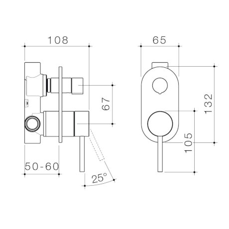 96366C 96366B 96366BB 96366BN 96366GM Liano II Bath Shower Mixer With Diverter - Round Cover Plate.jpg