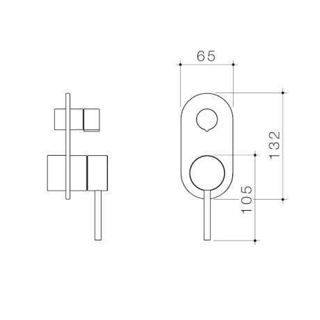 96369C 96369B 96369BB 96369BN 96369GM Liano II Bath Shower Mixer with Diverter Trim Kit (Round Cover Plate).jpg