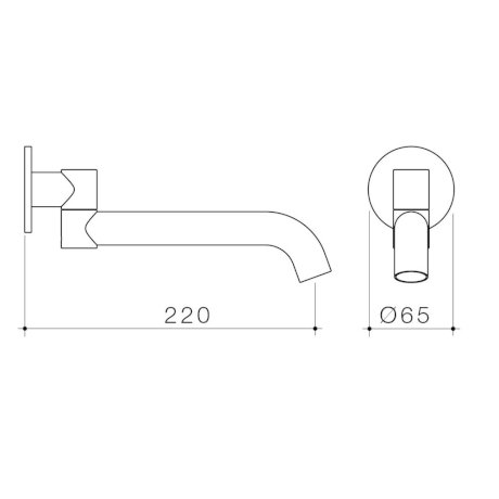 96376C 96376B 96376BB 96376BN 96376GM Liano II 220mm Bath Swivel Outlet (Round Cover Plate).jpg