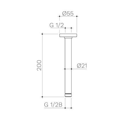 99658C-99658B-99658GM-99658BB-99658BN-Urbane-II-Ceiling-Arm-200mm.jpg