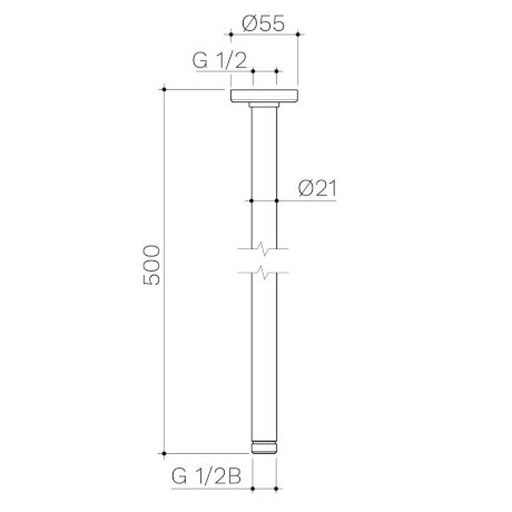 99640C-99640B-99640GM-99640BB-99640BN-Urbane-II-Ceiling-Arm-500mm.jpg