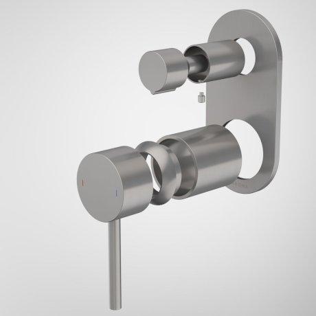 96369GM Liano II Bath Shower Mixer With Diverter Trim Kit - Round Cover Plate - Gunmetal.jpg