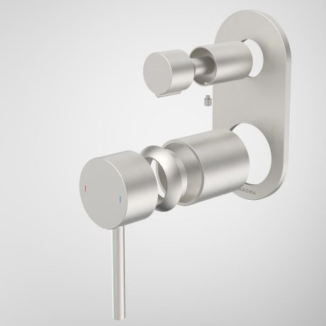 96369BN Liano II Bath Shower Mixer With Diverter Trim Kit - Round Cover Plate - Brushed Nickel.jpg