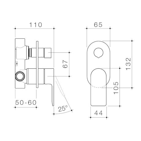 99656C6A 99656B6A 99656BB6A 99656GM6A 99656BN6A - Urbane II - Bath shower mixer with diverter - Rounded Cover Plate - SALES KIT.jpg