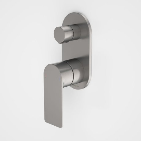 99656GM Urbane II - Bath_shower mixer with diverter - Rounded Cover Plate - Gunmetal - SALES KIT.jpg
