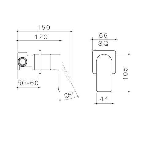 99649C6A 99649B6A 99649BB6A 99649GM6A 99649BN6A - Urbane II - Bath shower mixer - Square Cover Plate - SALES KIT.jpg